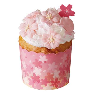 桜のマフィンカップ