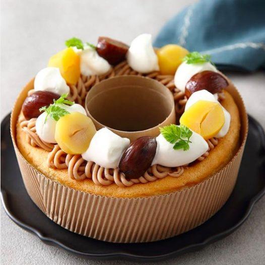 モンブランのショートシフォンケーキ
