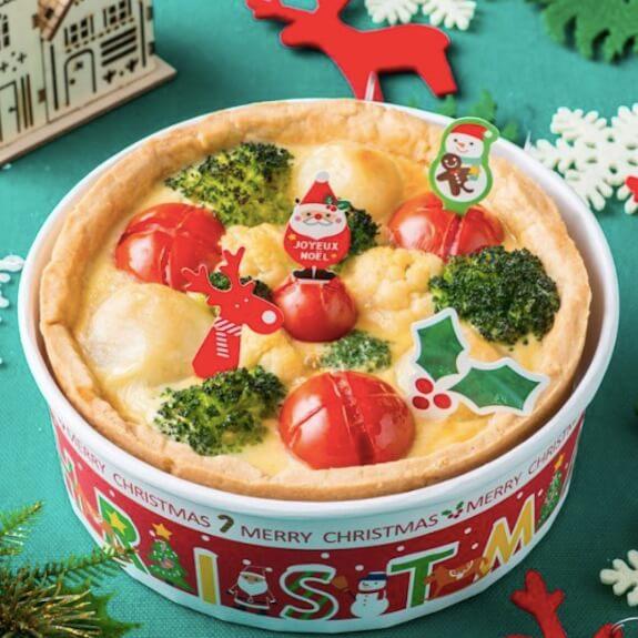 クリスマスカラーのキッシュ
