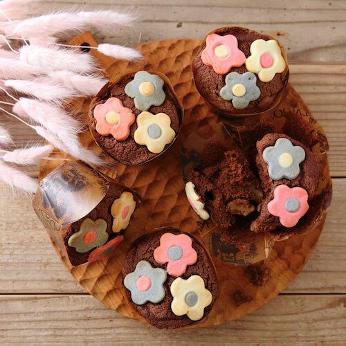 お花のクッキーマフィン