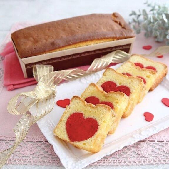 ハート♥パウンドケーキ