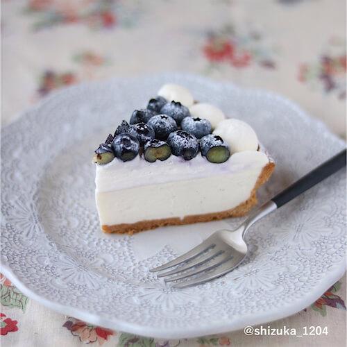 ブルーベリーレアチーズタルトのレシピ