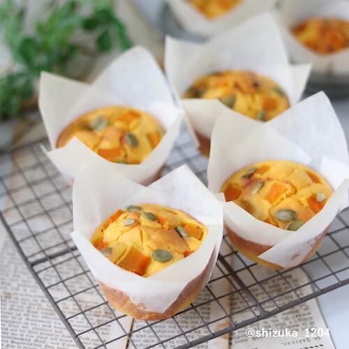 オイルで作る!かぼちゃのマフィンのレシピ